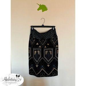 LulaRoe Metallic Tribal Printed Pencil Skirt